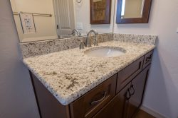 marble counter top on bathroom vanity