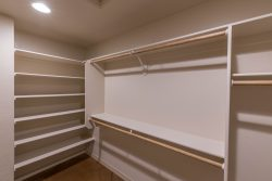 Rod and shelf in master closet