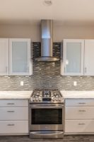 Stainless gas stove and hood