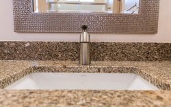 bath faucet and undermount sink
