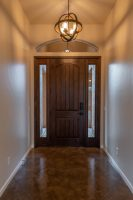 foyer, door with sidelights