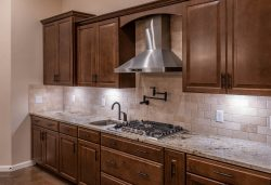 Gas cooktop with stainless hood