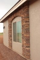 stone facade arch decor