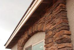 closeup of stone decor