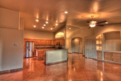 glossy stained concrete floor