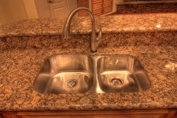 undermount sink in granite