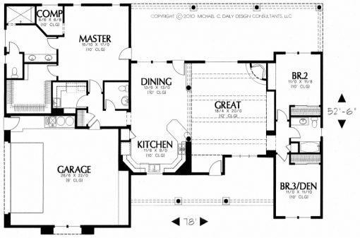 Custom designed floor plan.