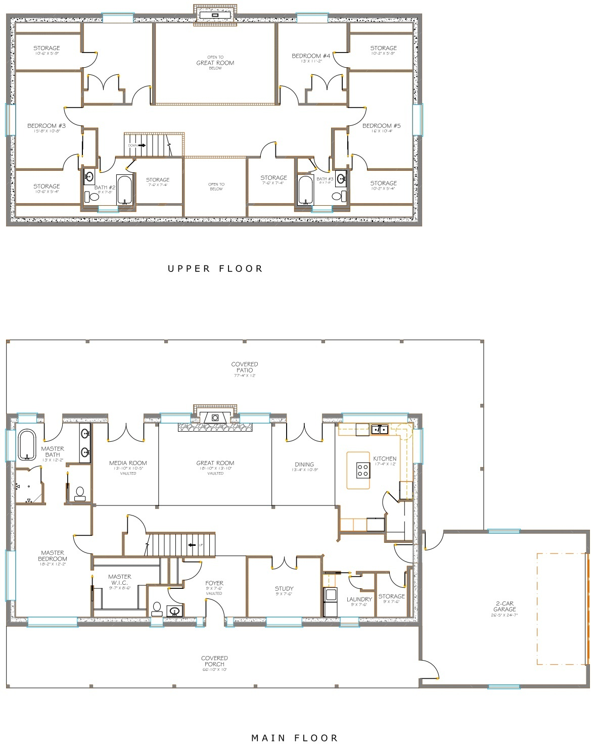 Custom built floor plan.