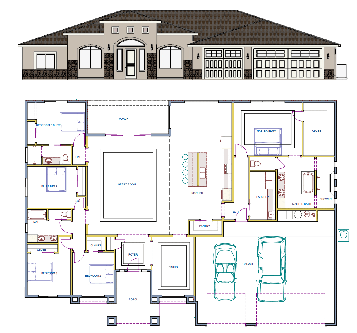 Spec Sheet of home during construction in Hereford Arizona