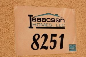 Energy Star logo engraved with Isaacson homes logo